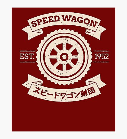 SPW - Speed Wagon Foundation shirt Photographic Print