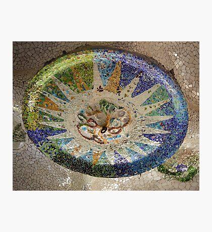 Parc Guell Ceiling Medallion (Barcelona, Spain) Photographic Print