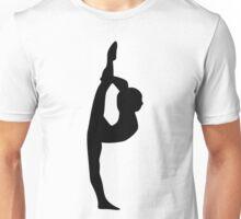 Gymnast or Dancer Silhouette Unisex T-Shirt