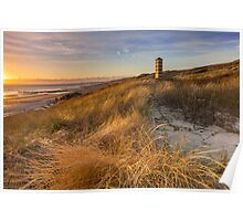 Lighthouse in the dunes Poster