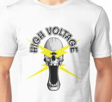 Electrician Skull: High Voltage Unisex T-Shirt