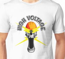 Skull Electrician: High Voltage Unisex T-Shirt
