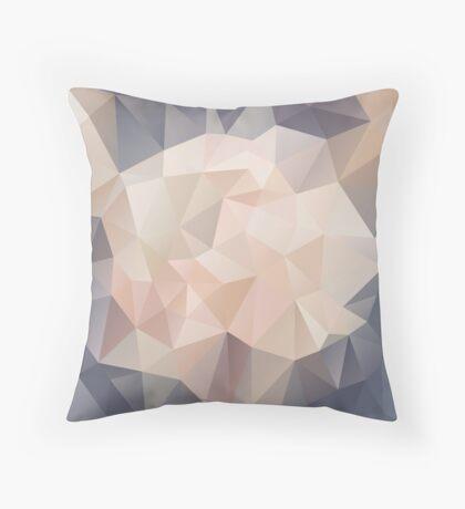 Low Polygon Digital Art : Blush/Pink/Gray Throw Pillow