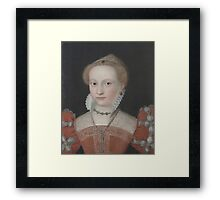 Follower of François Clouet  Portrait of a lady, bust-length Framed Print