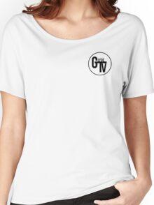 Black GlydeTV Logo Women's Relaxed Fit T-Shirt