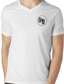 Black GlydeTV Logo Mens V-Neck T-Shirt