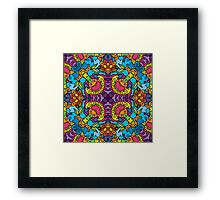 Psychedelic jungle kaleidoscope ornament 32 Framed Print
