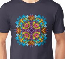 Psychedelic jungle kaleidoscope ornament 32 Unisex T-Shirt