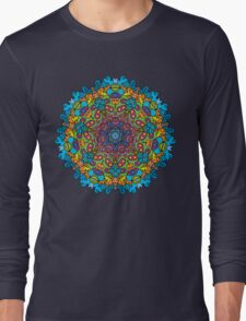 Psychedelic jungle kaleidoscope ornament 33 Long Sleeve T-Shirt