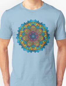 Psychedelic jungle kaleidoscope ornament 33 Unisex T-Shirt