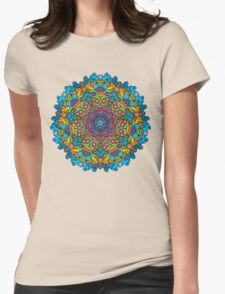 Psychedelic jungle kaleidoscope ornament 33 Womens Fitted T-Shirt