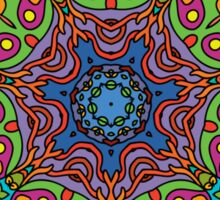 Psychedelic jungle kaleidoscope ornament 33 Sticker