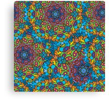 Psychedelic jungle kaleidoscope ornament 33 Canvas Print