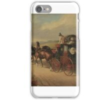 Follower of John Charles Maggs - The Bristol to London coach The Stroud iPhone Case/Skin