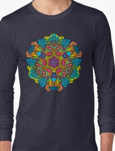Psychedelic jungle kaleidoscope ornament 34 Long Sleeve T-Shirt
