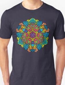 Psychedelic jungle kaleidoscope ornament 34 Unisex T-Shirt
