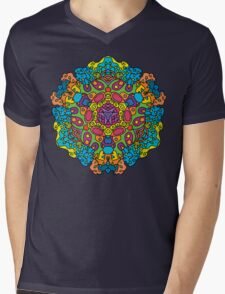 Psychedelic jungle kaleidoscope ornament 34 Mens V-Neck T-Shirt