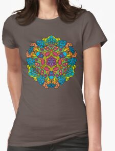 Psychedelic jungle kaleidoscope ornament 34 Womens Fitted T-Shirt