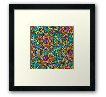 Psychedelic jungle kaleidoscope ornament 34 Framed Print
