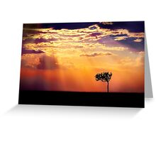 Sunset Over Masai Mara IV [Print & iPad Case] Greeting Card