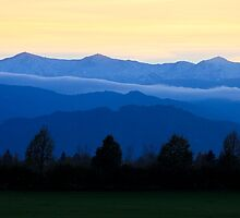 Mountains of Styria by Delfino