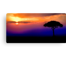 Sunset Over Masai Mara, Kenya III Canvas Print