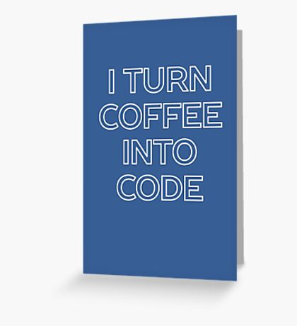 Funny Computer Science and Coffee Greeting Card
