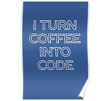 Funny Computer Science and Coffee Poster