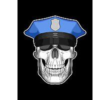 Police Skull 2 Photographic Print