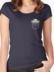 Rowlet in a pocket Women's Fitted Scoop T-Shirt