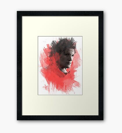 Matt Smith | Paint Portrait Framed Print