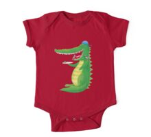 Jack's crocodile feeding the birds (in his TEETH!) One Piece - Short Sleeve