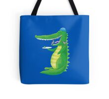 Jack's crocodile feeding the birds (in his TEETH!) Tote Bag