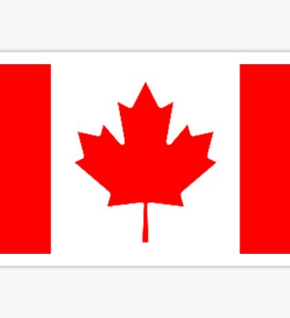 Canadian Flag, Canada, Leaf, Red And White Design Sticker
