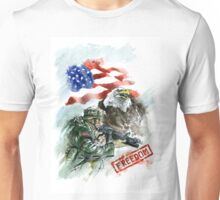 Native american art, american soldier picture for sale. Unisex T-Shirt