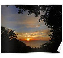 Window on Paradise Sunset Poster