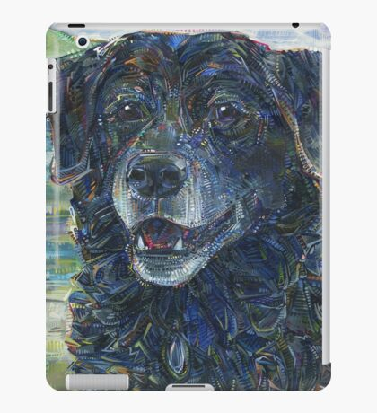 Black dog painting - 2016 iPad Case/Skin