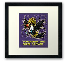 Super Saiyan Toucannon Framed Print