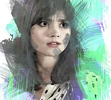 Jenna Coleman | Paint Portrait by fawxtiel