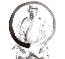 Enso circle original painting, japanese ideas for men by Mariusz Szmerdt