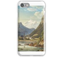 Frederik Kiaerskou , Landscape with Hocheppan Castle, South Tyrol iPhone Case/Skin