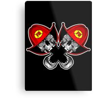 Crossed Fireman Skulls Metal Print
