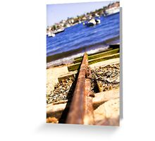 Train Tracks Bright | Greenwich Baths Greeting Card