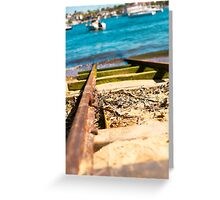 Blue Train Tracks | Greenwich Baths Greeting Card
