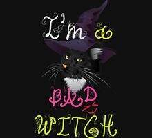 I'm a bad witch kitty Womens Fitted T-Shirt
