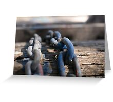 Chain Reaction Blue | Greenwich Baths Greeting Card