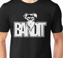 Bandit Funny Masked Dog White Unisex T-Shirt