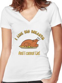 I Like Big Breasts and I Cannot Lie! Women's Fitted V-Neck T-Shirt