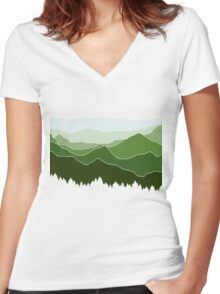 The Horizon Women's Fitted V-Neck T-Shirt