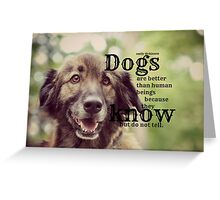 Emily Dickinson Dogs Greeting Card